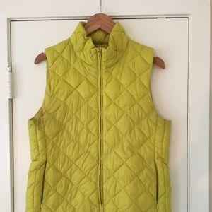 Ann Taylor Lime Green Vest Sz M